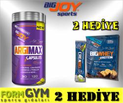 BIGJOY - BigJoy Argimax 120 Bitkisel Kapsül Arjinin Taurin Tribulus Ginseng Saw Palmetto