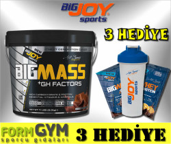 BIGJOY - Bigjoy Sports BIGMASS Gainer + GH FACTORS Çikolata 5000 gr