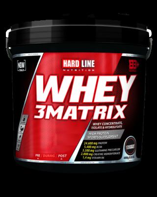 Hardline Whey 3Matrix Protein Tozu 4000 gr Çilek